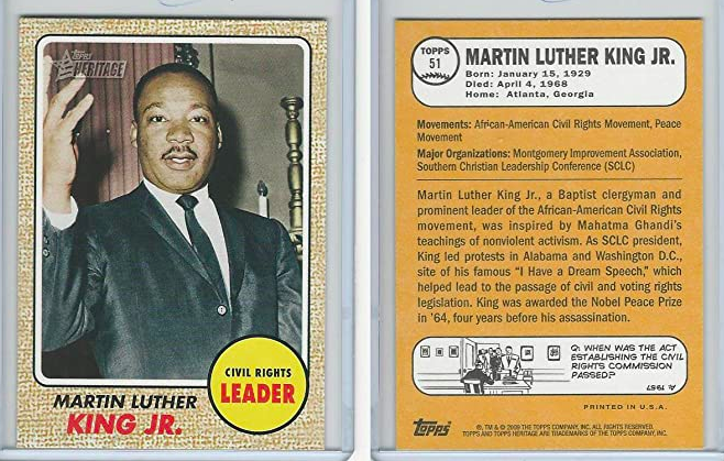 Inside the Pack: Dr. Martin Luther King, Jr. Trading Cards