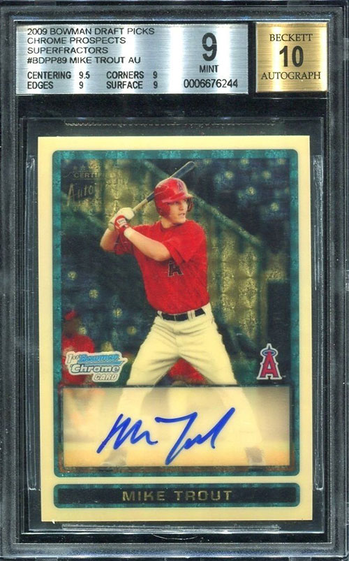 Inside the Pack: Mike Trout Autograph Card Sets All-Time Sales Record