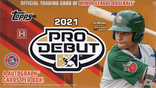 Inside the Pack: 2021 Topps Pro Debut Review